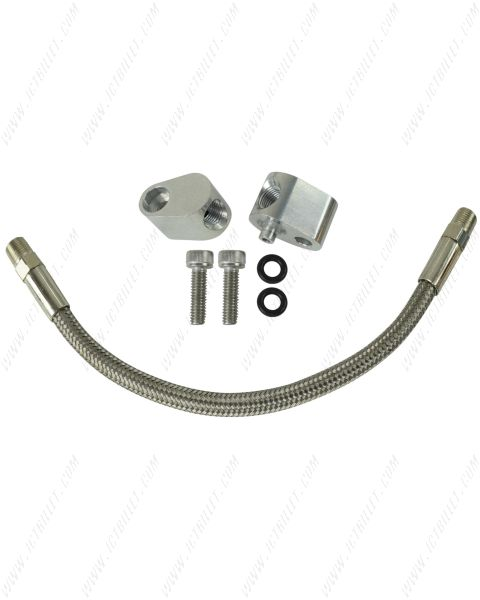 LS LS1 Throttle Body Coolant Bypass Hose Kit / Head Steam Port Crossover