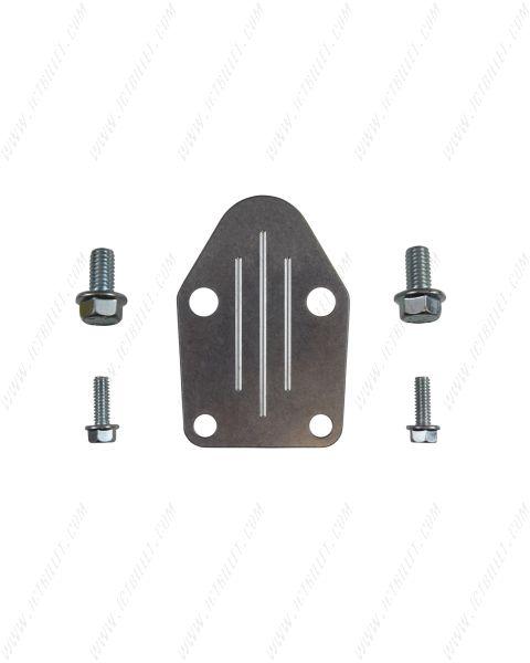 SBC Billet Aluminum Fuel Pump Block Off Plate