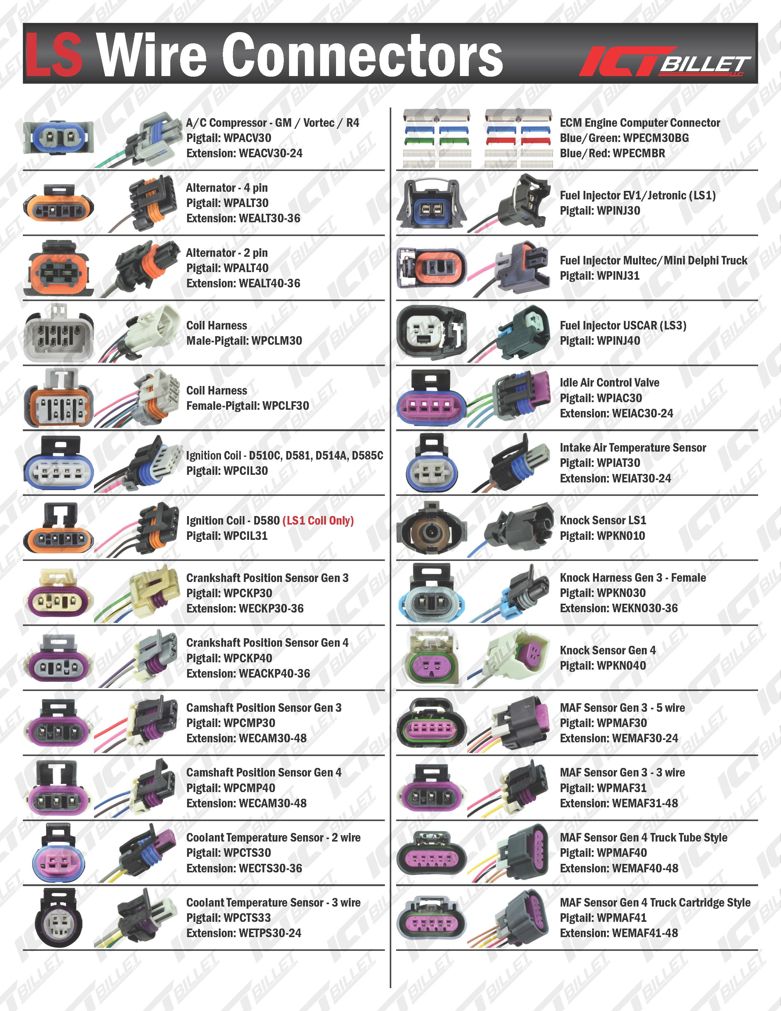 LS IAC 4-Wire Pigtail - Idle Air Control Valve Connector Harness - LS1 LSX  Plug | eBayeBay
