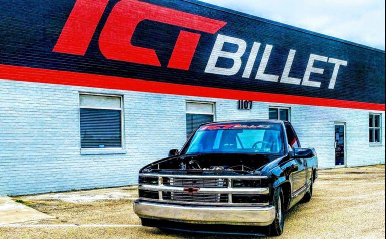 ICT Billet shop truck featuring an LS engine swap with DBW throttle body